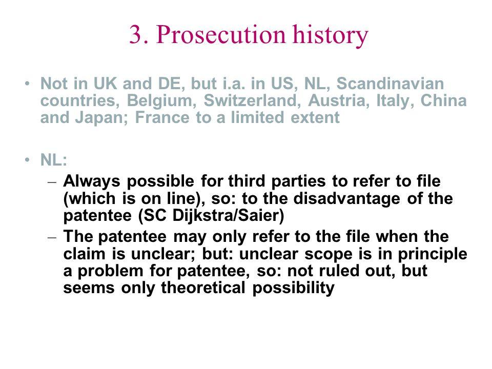 3. Prosecution history