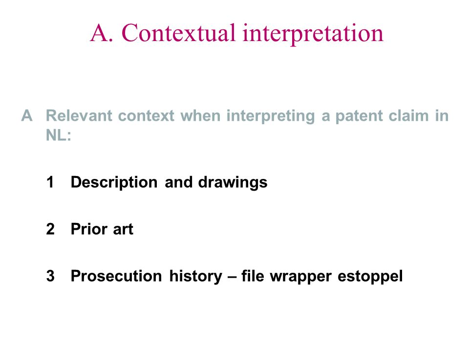 A. Contextual interpretation