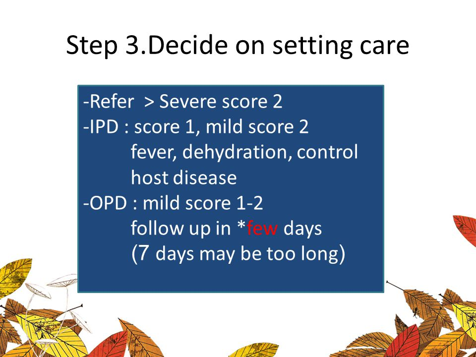Step 3.Decide on setting care