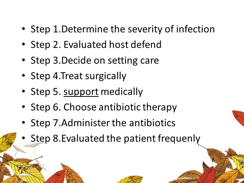 Step 1.Determine the severity of infection