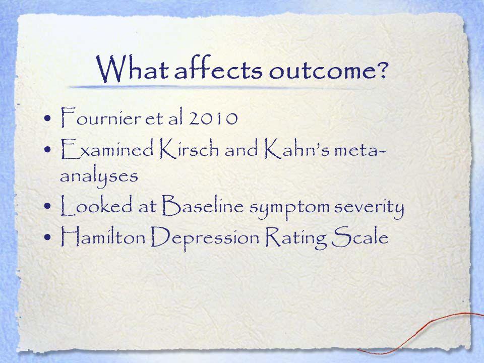 What affects outcome Fournier et al 2010