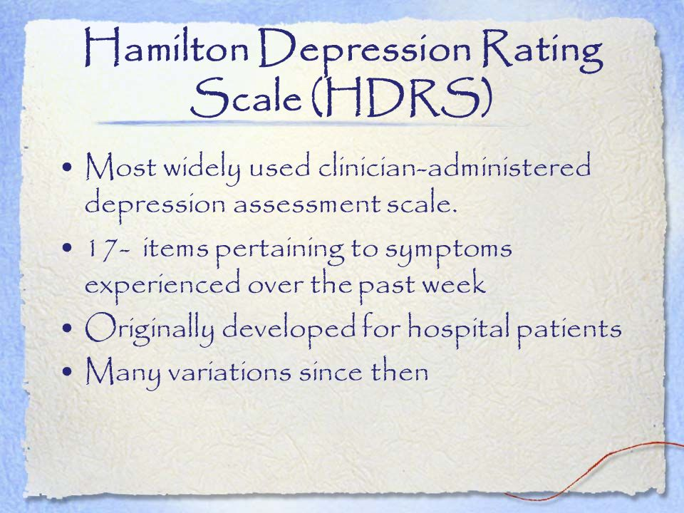 Hamilton Depression Rating Scale (HDRS)