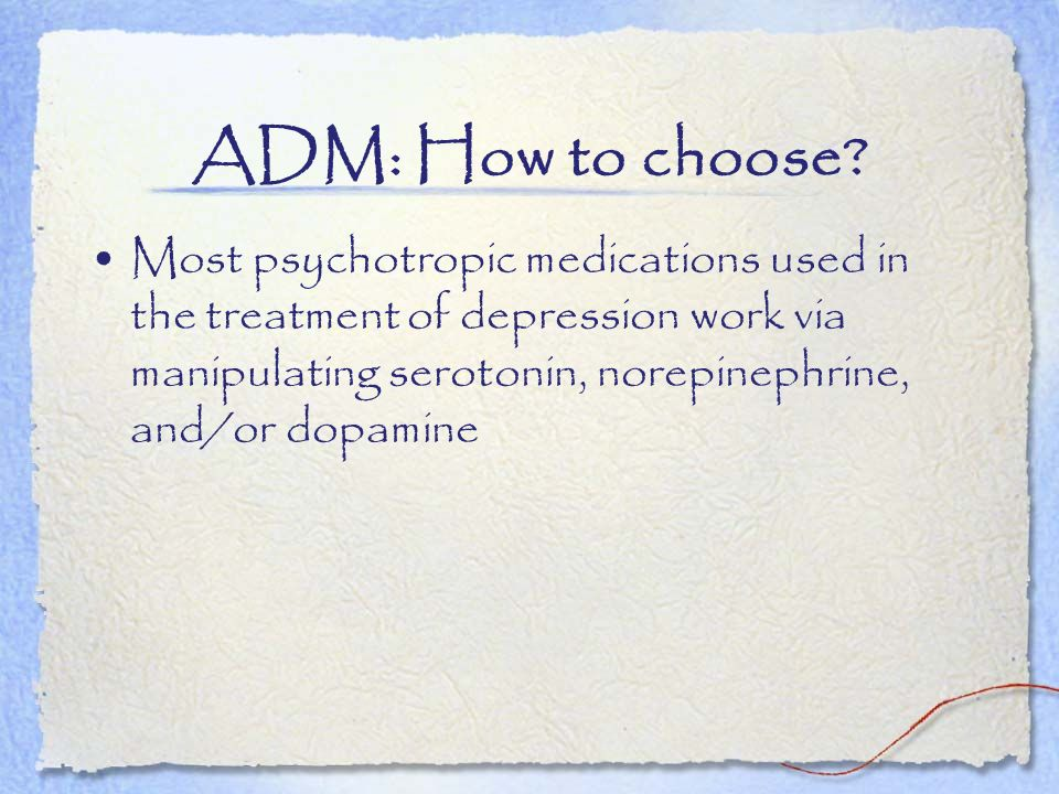 ADM: How to choose