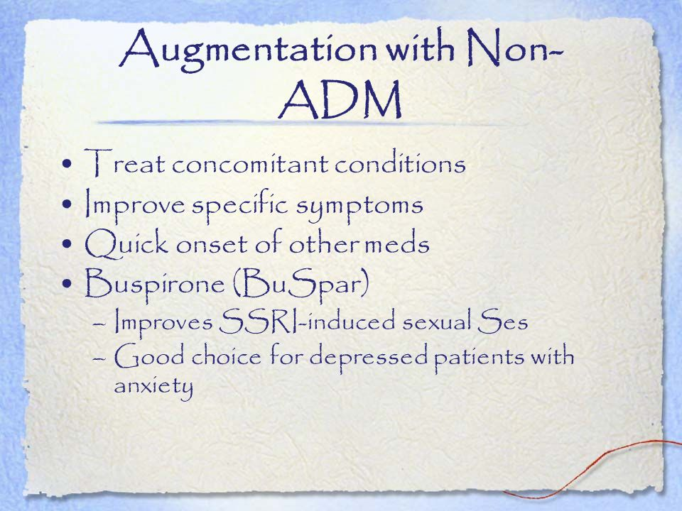 Augmentation with Non-ADM