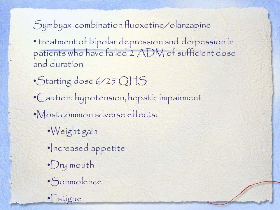 Symbyax-combination fluoxetine/olanzapine