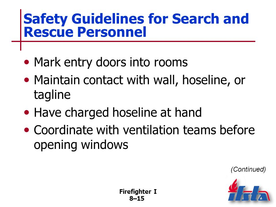 Safety Guidelines for Search and Rescue Personnel