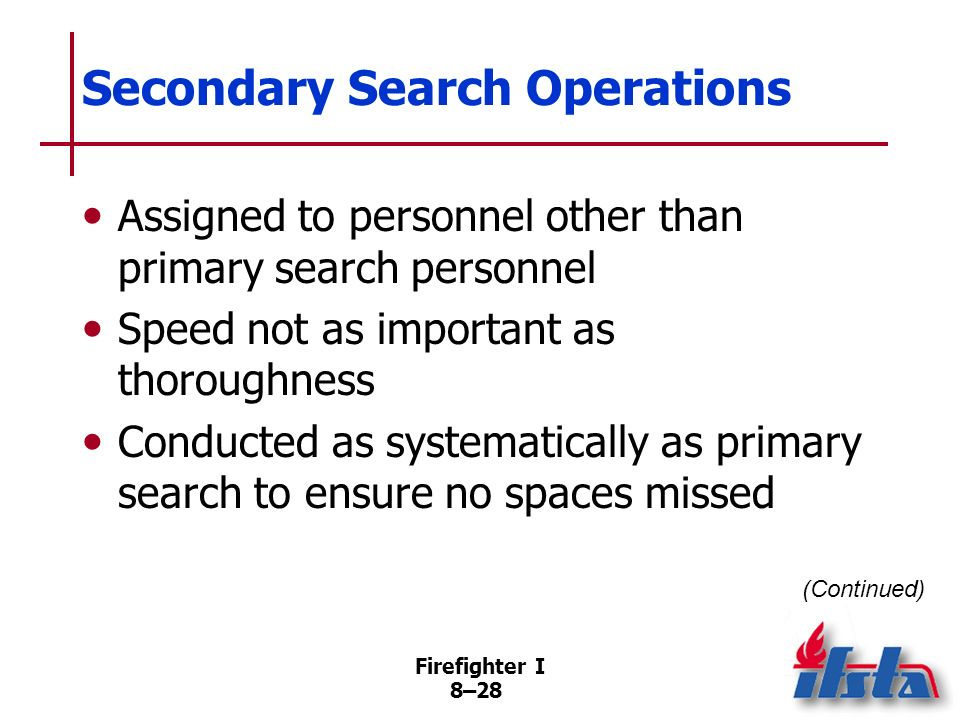 Secondary Search Operations
