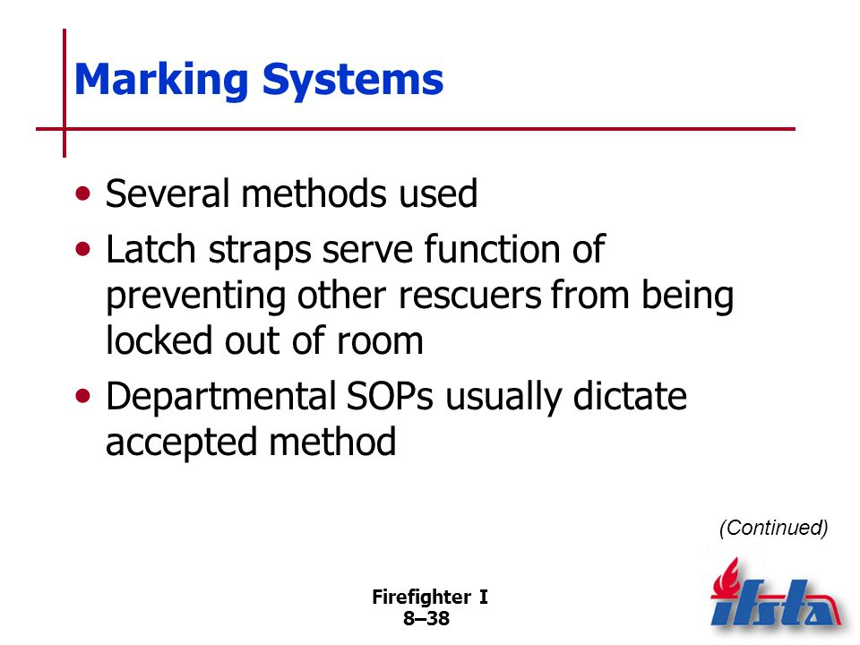 Marking Systems Several methods used