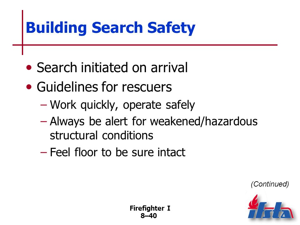 Building Search Safety