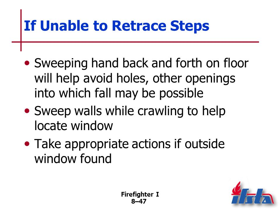 If Unable to Retrace Steps