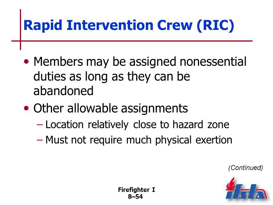 Rapid Intervention Crew (RIC)