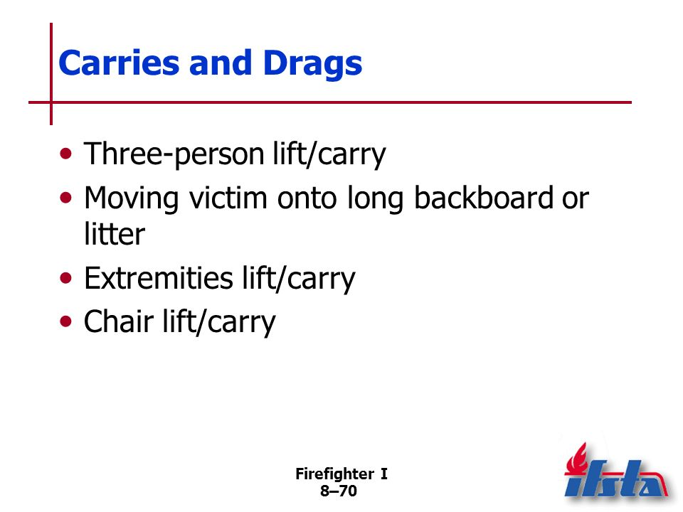 Carries and Drags Three-person lift/carry