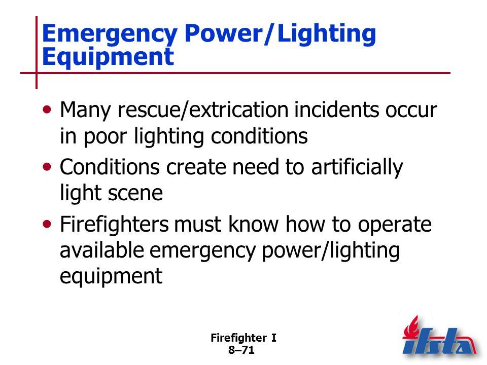 Emergency Power/Lighting Equipment
