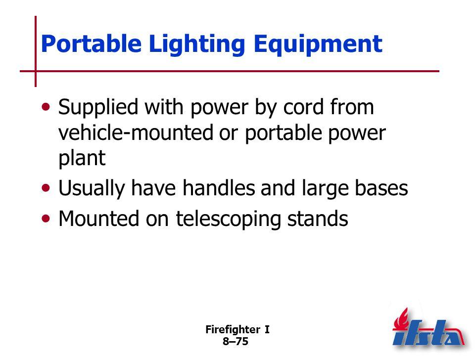 Portable Lighting Equipment