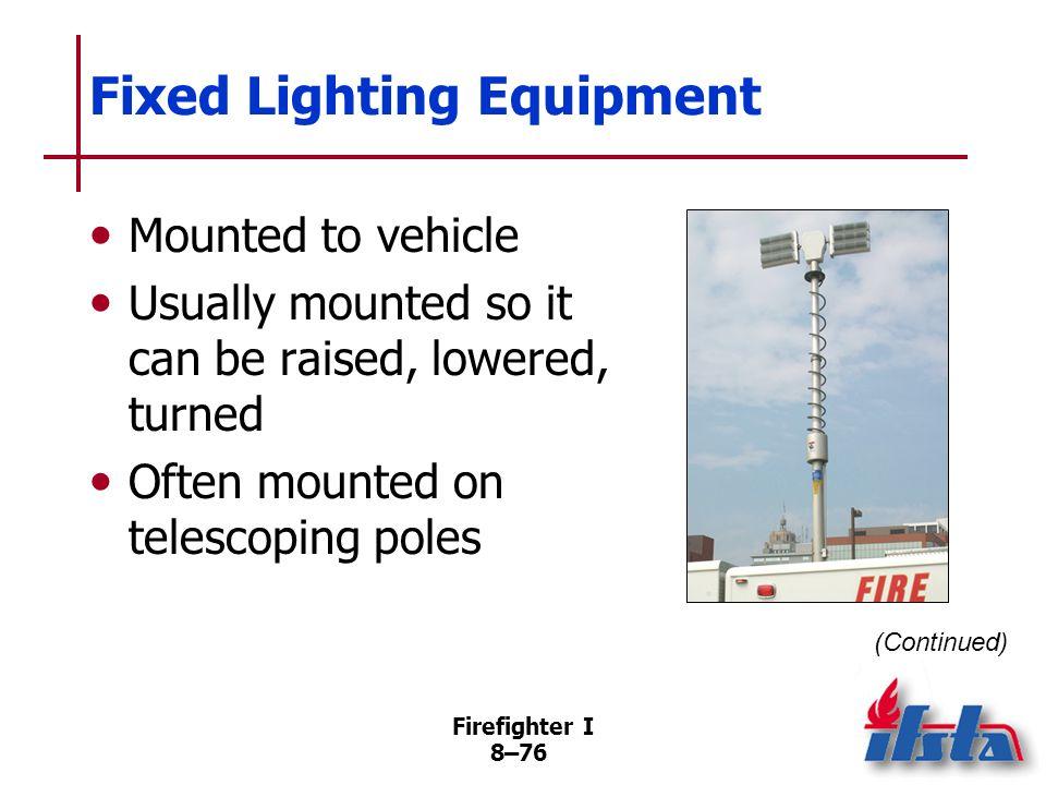 Fixed Lighting Equipment