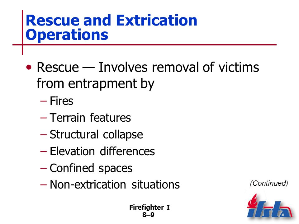 Rescue and Extrication Operations