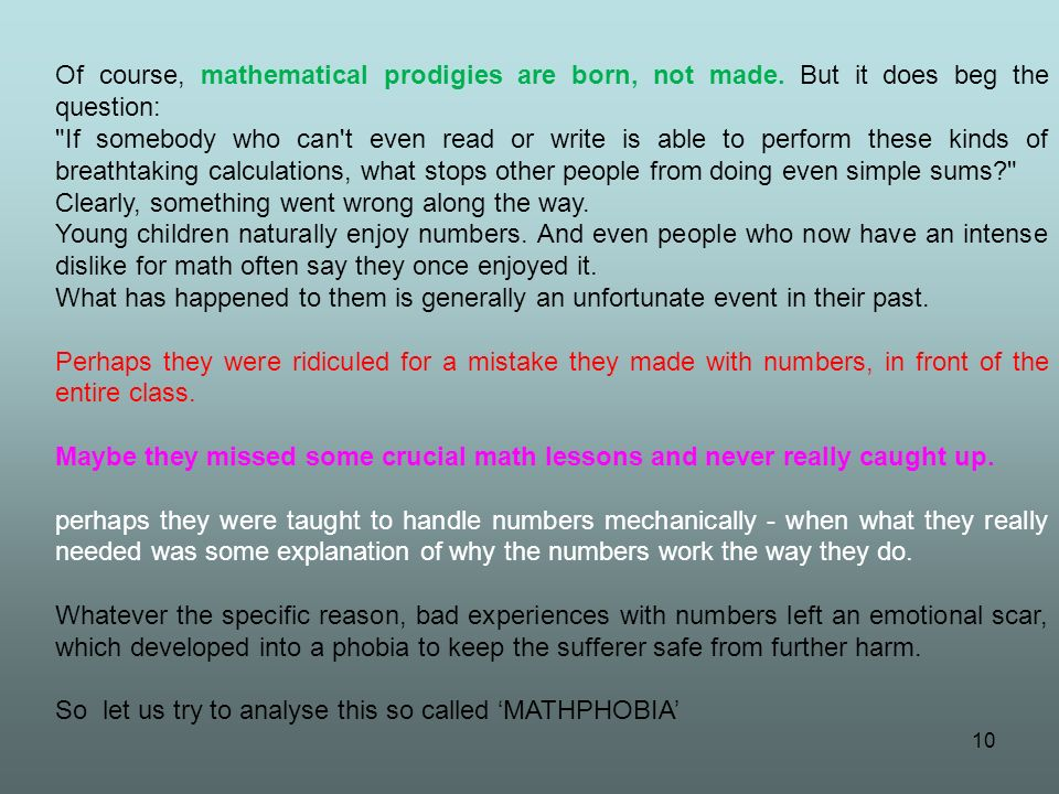 Of course, mathematical prodigies are born, not made