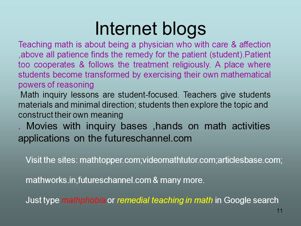 Internet blogs