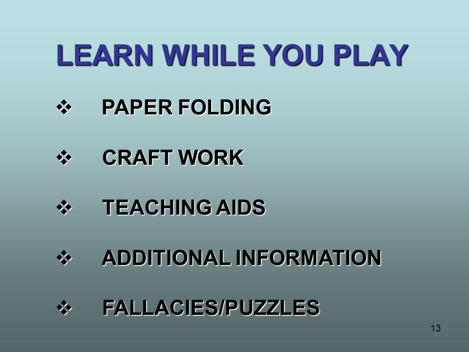 LEARN WHILE YOU PLAY PAPER FOLDING CRAFT WORK TEACHING AIDS