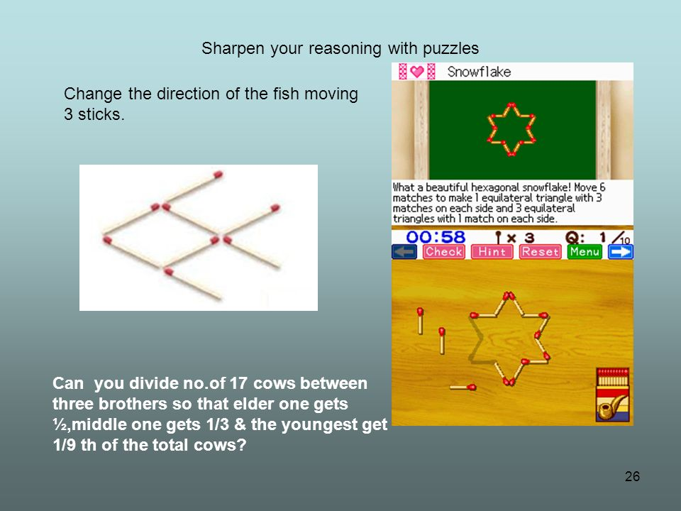 Sharpen your reasoning with puzzles