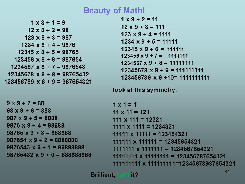 Beauty of Math!