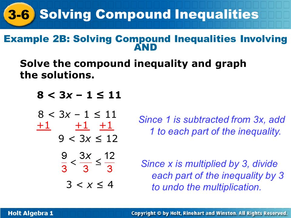 Example 2B: Solving Compound Inequalities Involving AND