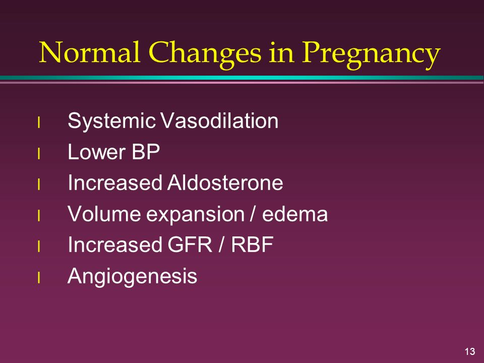 Normal Changes in Pregnancy