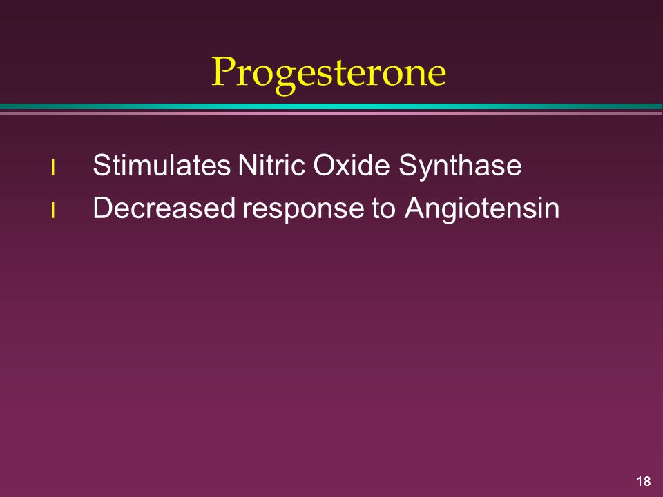 Progesterone Stimulates Nitric Oxide Synthase