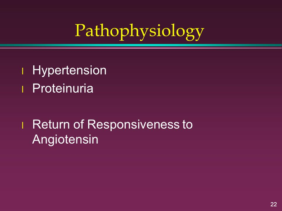 Pathophysiology Hypertension Proteinuria