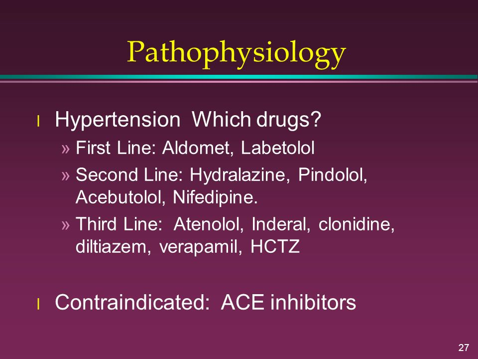 Pathophysiology Hypertension Which drugs