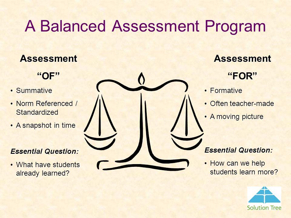 A Balanced Assessment Program