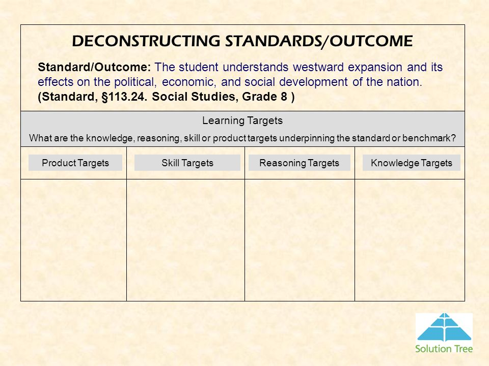 DECONSTRUCTING STANDARDS/OUTCOME
