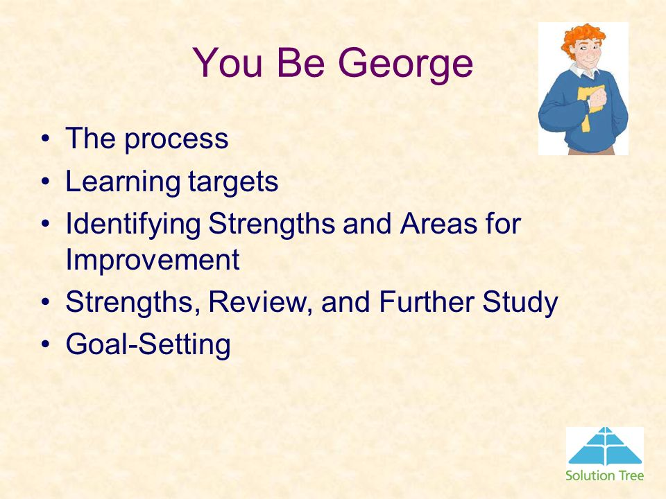 You Be George The process Learning targets