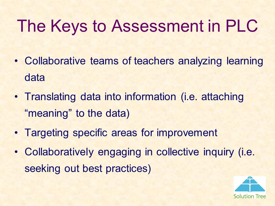 The Keys to Assessment in PLC