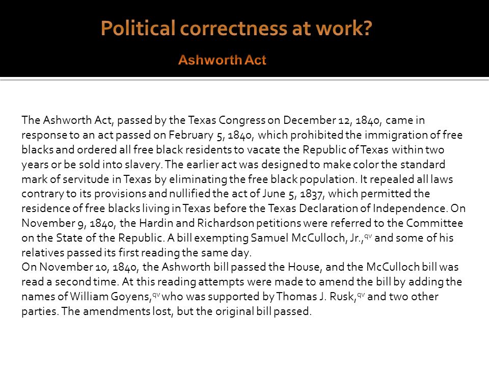 Political correctness at work