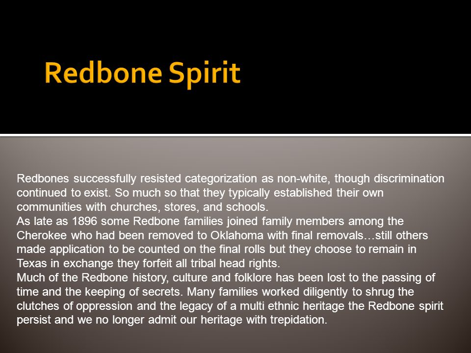 Redbone Spirit