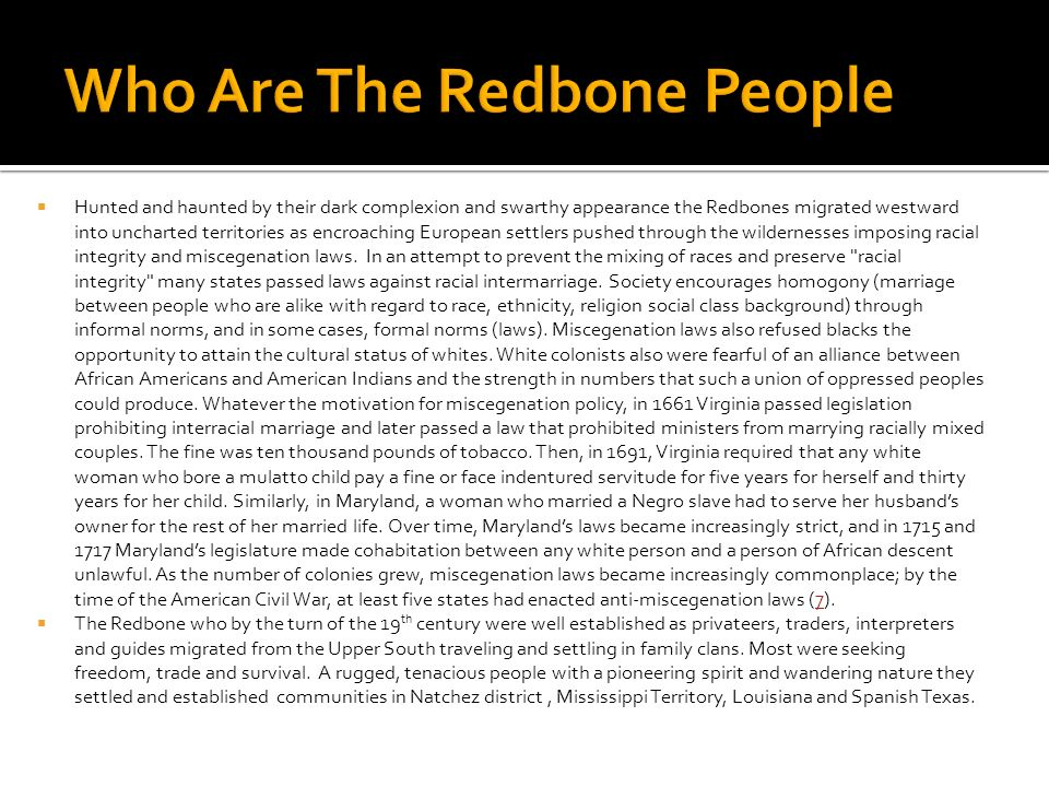 Who Are The Redbone People