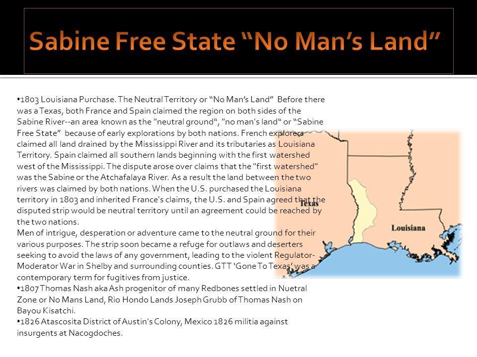 Sabine Free State No Man's Land