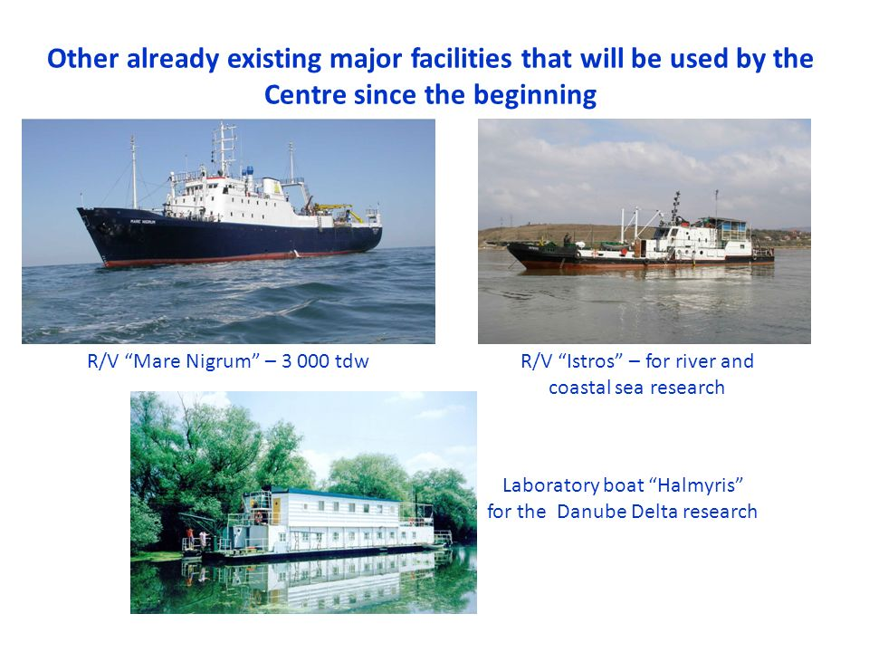 Other already existing major facilities that will be used by the Centre since the beginning