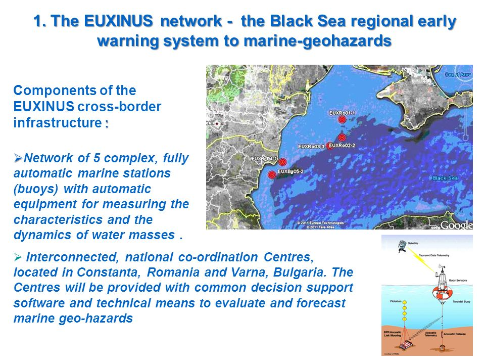 1. The EUXINUS network - the Black Sea regional early warning system to marine-geohazards