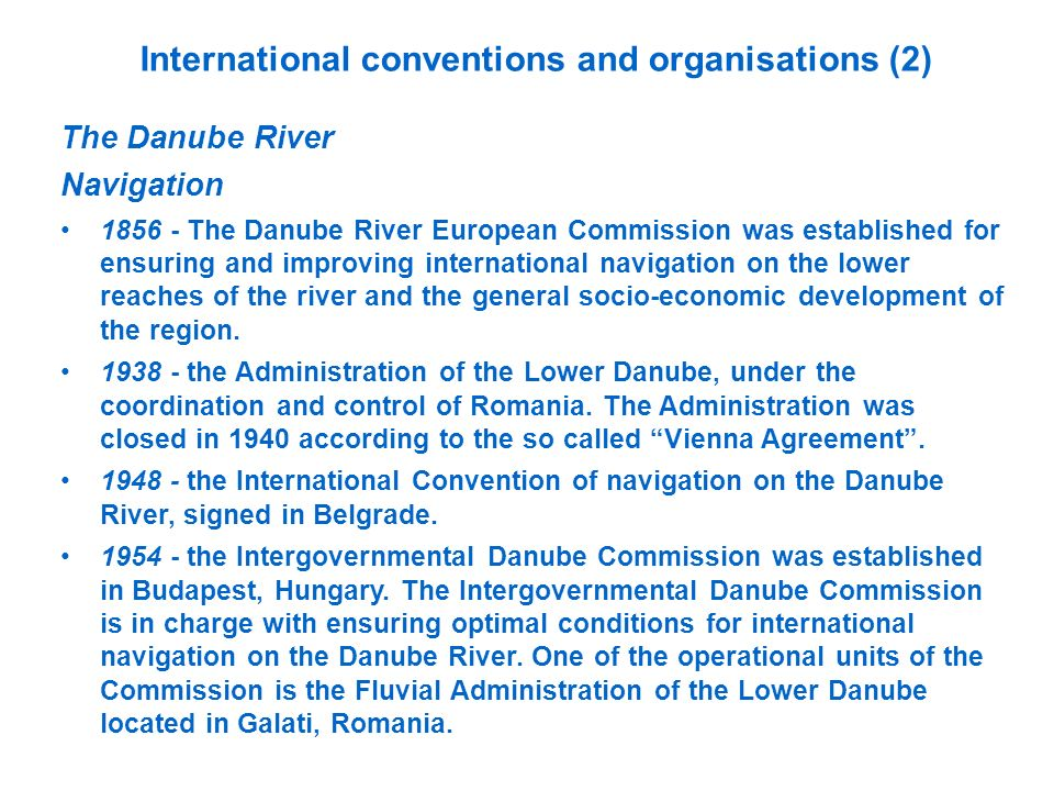 International conventions and organisations (2)