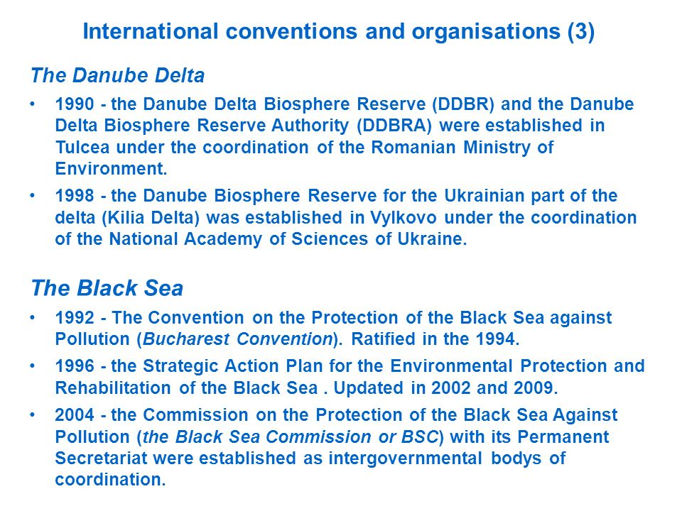 International conventions and organisations (3)