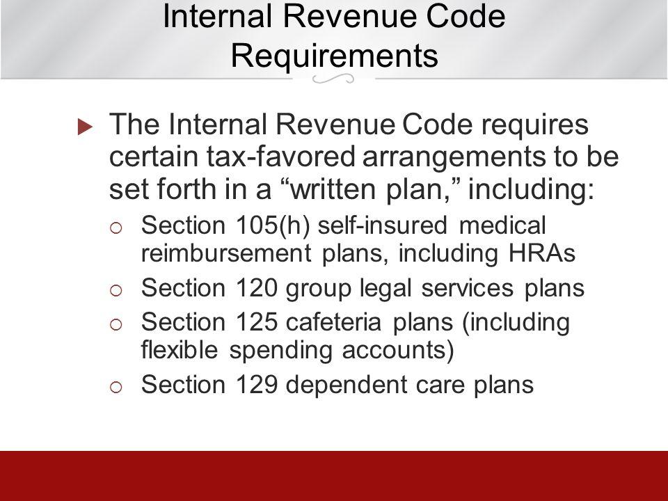 Internal Revenue Code Requirements