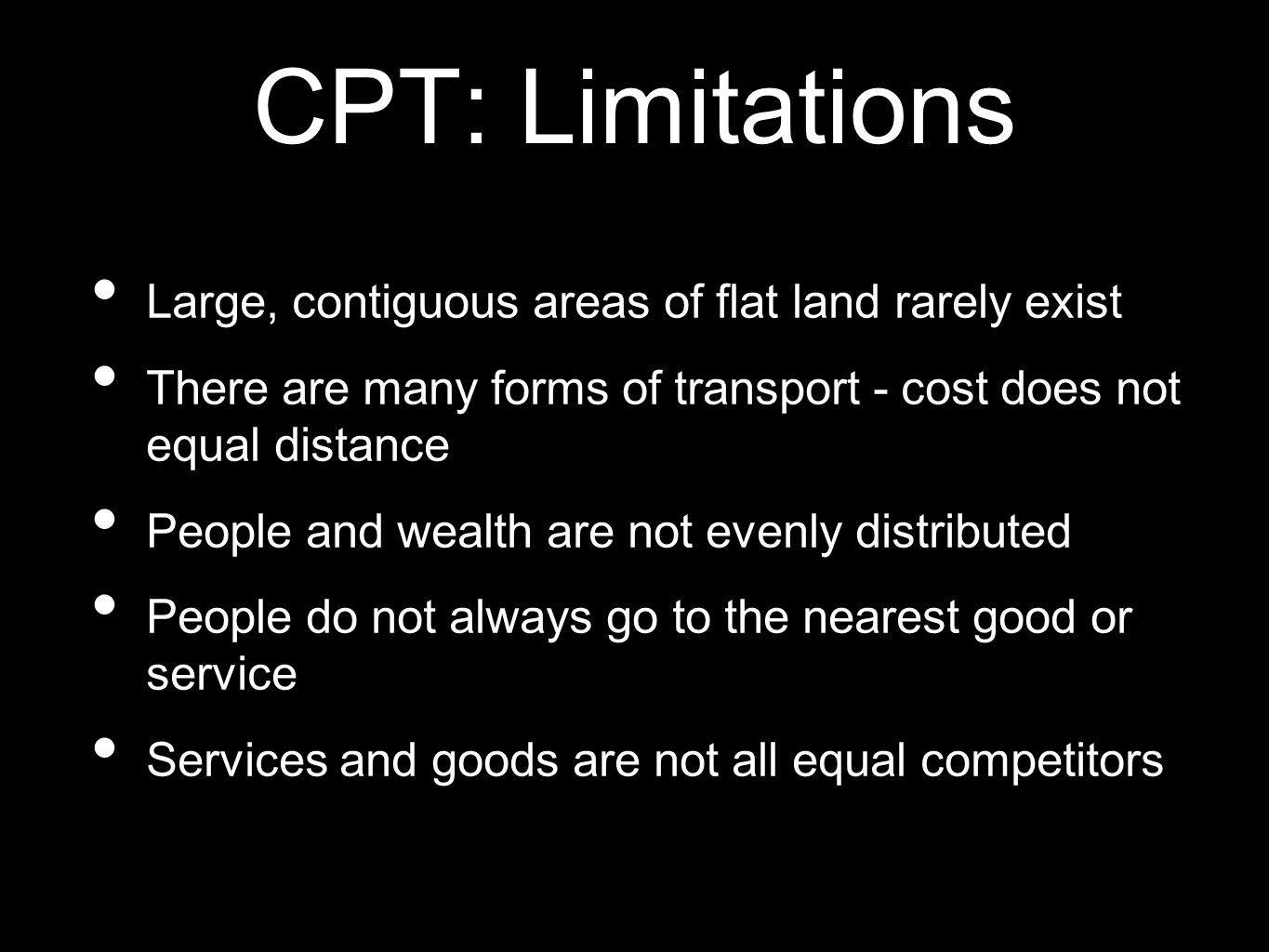 CPT: Limitations Large, contiguous areas of flat land rarely exist