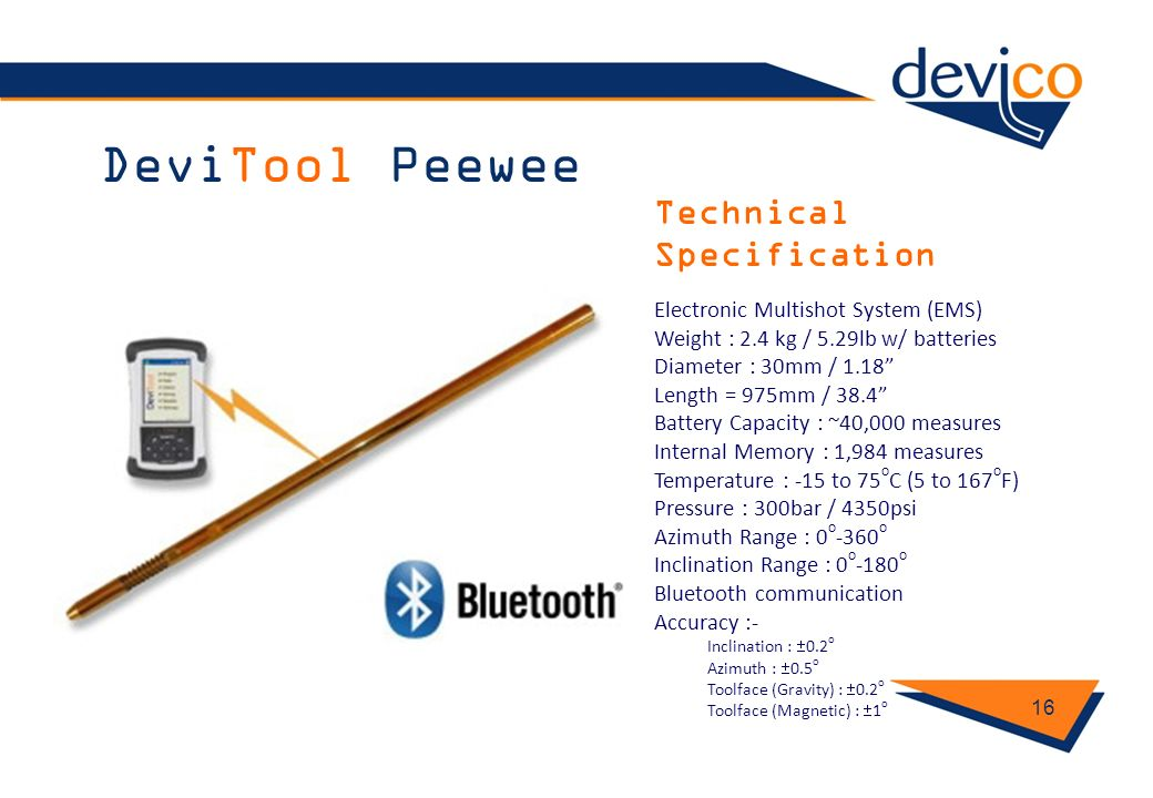 DeviTool Peewee Technical Specification
