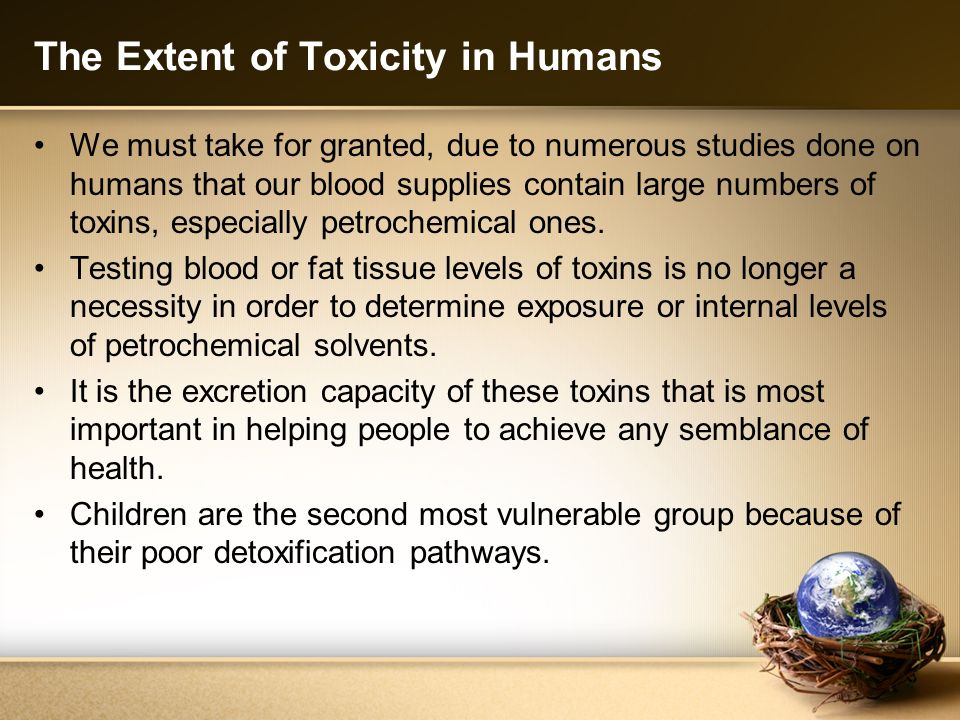 The Extent of Toxicity in Humans