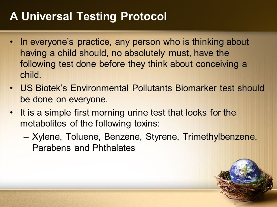 A Universal Testing Protocol