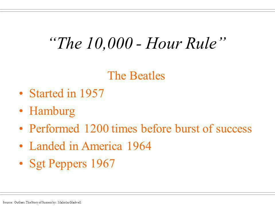 The 10,000 - Hour Rule The Beatles Started in 1957 Hamburg