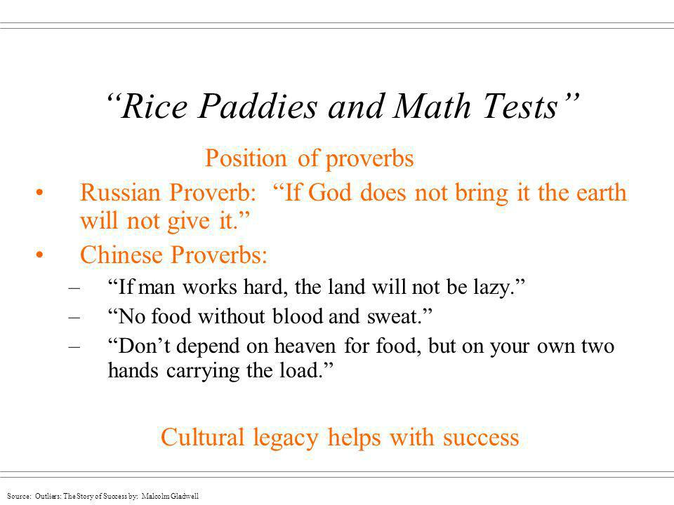 Rice Paddies and Math Tests