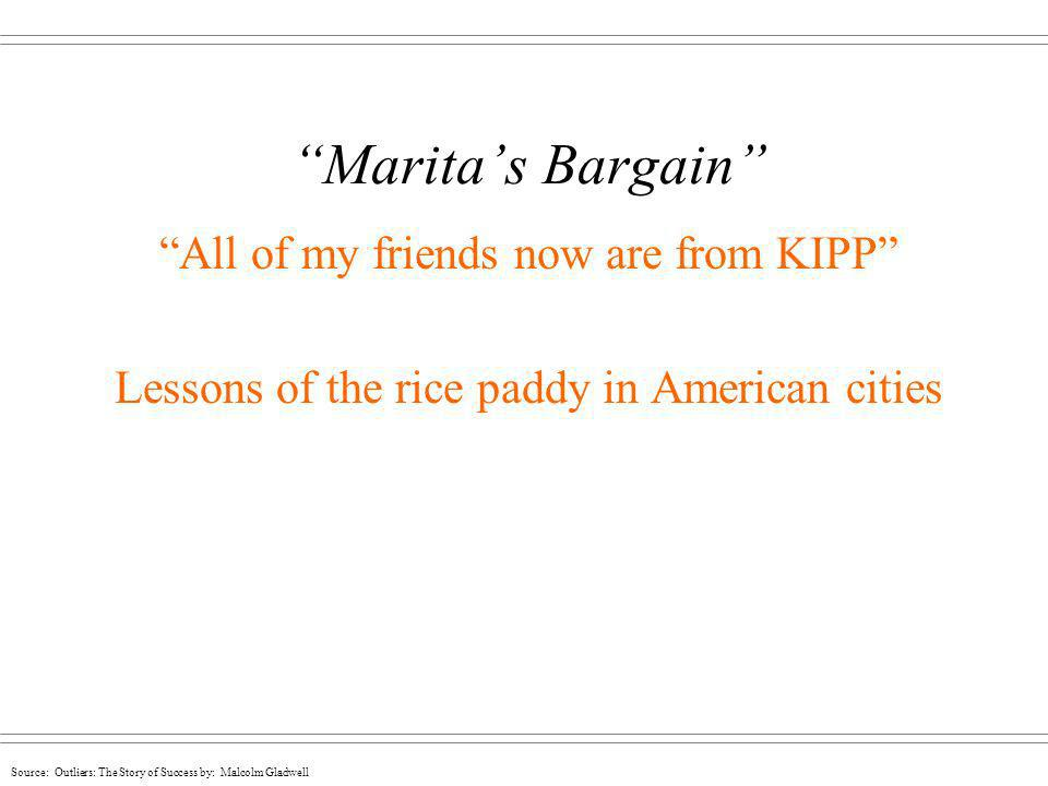 Marita's Bargain All of my friends now are from KIPP